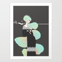 Love in Black Art Print