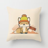 Pretty Cunning Throw Pillow
