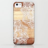 White Doodles On Blonde … iPhone 5c Slim Case