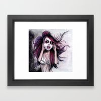 LISTEN TO MUSIC Framed Art Print