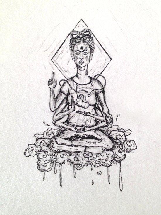 Aggran La Frida Kahlo Art Print