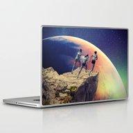 Orange Planet Laptop & iPad Skin