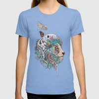 Unbound Autonomy (Blue) Womens Fitted Tee Tri-Blue SMALL