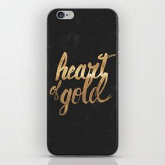 Heart of Gold iPhone & iPod Skin