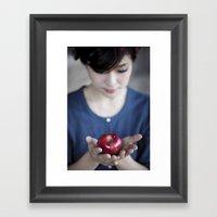 Apple, My Sweet? (Snow W… Framed Art Print