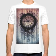 Steampunk clock Mens Fitted Tee White SMALL