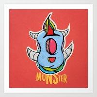 Cute Monster Art Print