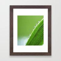 On The Edge Of Green - W… Framed Art Print
