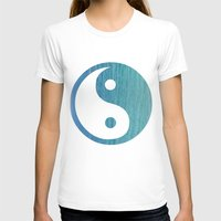Yin Yang Womens Fitted Tee White SMALL