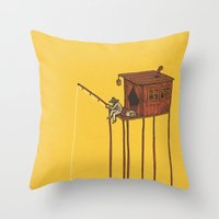 The Great Flood Throw Pillow