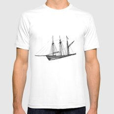 Ship Mens Fitted Tee SMALL White
