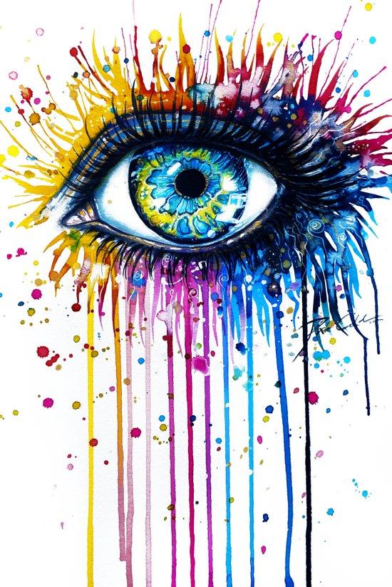 """Rainbow Eye"" Canvas Print"