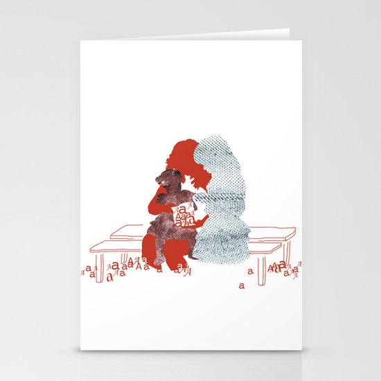 mother and daughters Stationery Card