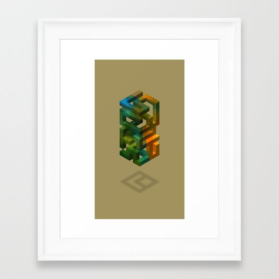 Cobalt Framed Art Print