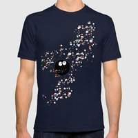 Blowing rainbow bubbles Mens Fitted Tee Navy SMALL