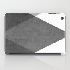 black and white triangles iPad Case