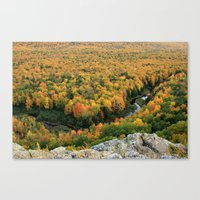 Autumn Colors At The Car… Canvas Print