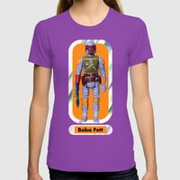 Boba Fett Beach Towel : Smaller Womens Fitted Tee Ultraviolet SMALL