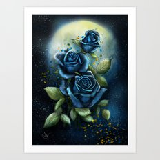 Night Roses Art Print