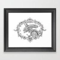 Fancy Xenomorph Framed Art Print