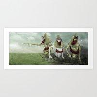 3 Lurkers  Art Print