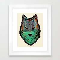 Wolf Mother - Screen Print Edition  Framed Art Print