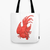 Chicken Rooster Crouching Drawing Tote Bag