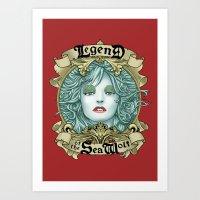 Legend Of The Sea Wolf Art Print