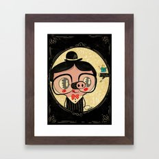 PIGnocchio and the blue fairy / pinocchio pig Framed Art Print
