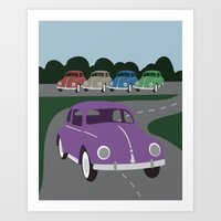 V Bug Art Print