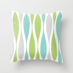 Colorwaves Spring Throw Pillow