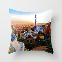 Barcelona - Gaudí's Park Güell Throw Pillow