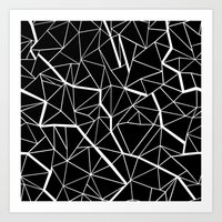 Ab Outline Mod Art Print