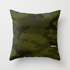 Modern Woodgrain Camouflage / Greenwoods DPM Throw Pillow