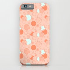 Coral Bubbles (with a hint of mint) Slim Case iPhone 6s