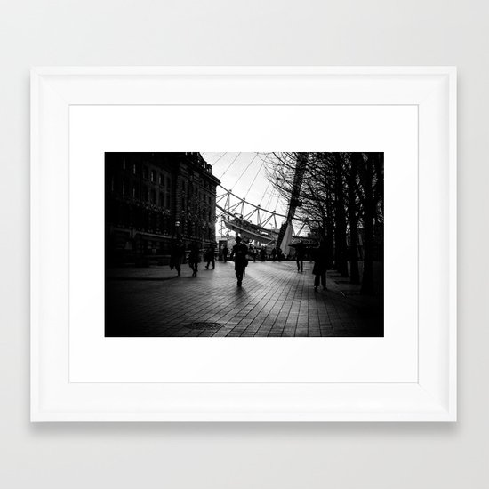 Shadow Walker Framed Art Print