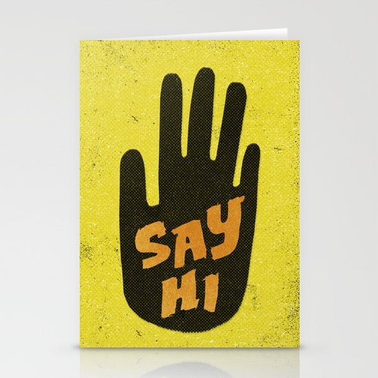 Say Hi. Stationery Card
