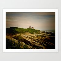 Beavertail Lighthouse on Conanicut Island Art Print
