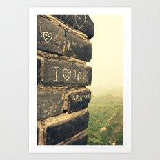 Great Wall  Art Print