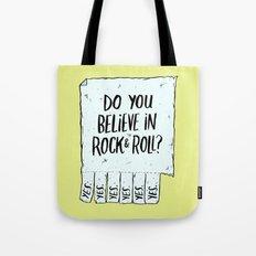 Believe in Rock & Roll Tote Bag