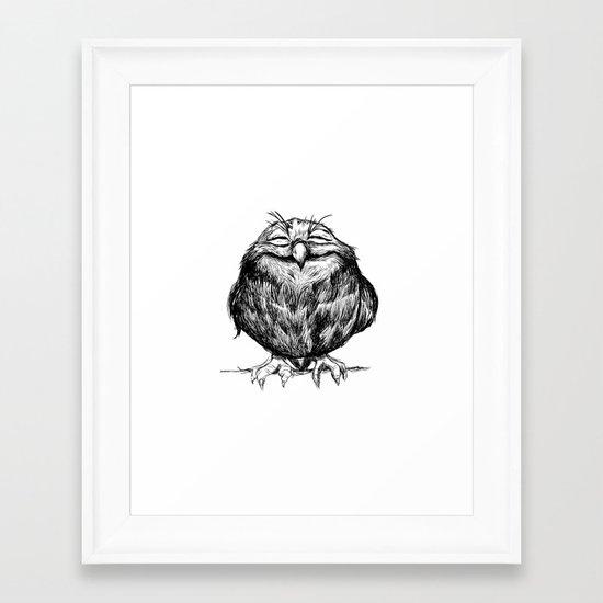 Owl Ball Framed Art Print