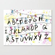 Stranger Things Alphabet Christmas Lights  Canvas Print