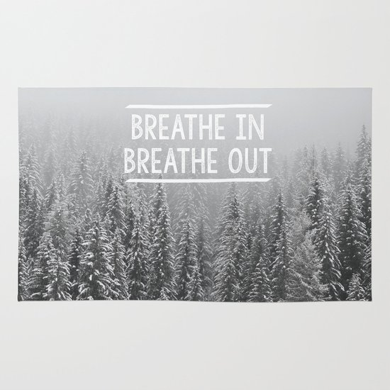 Breathe In - Breathe Out Area & Throw Rug