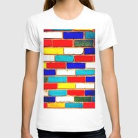 Vibrant Brick Womens Fitted Tee White SMALL