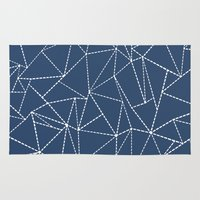 Ab Dotted Lines Navy Rug