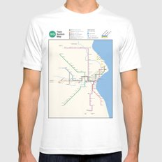Milwaukee Transit System Map White Mens Fitted Tee SMALL