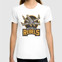 Republic Rebels Womens Fitted Tee White SMALL