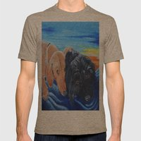 Doxies Mens Fitted Tee Tri-Coffee SMALL