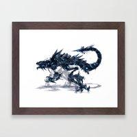 Coldfire Hound Framed Art Print