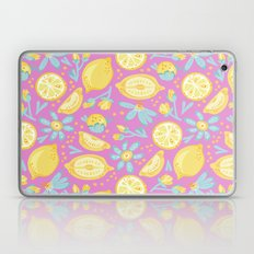 Lemon Pattern Pink Laptop & iPad Skin